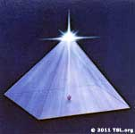 Star of Christhood at the top of the pyramid